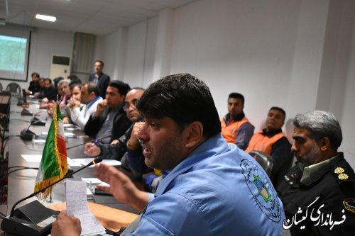 جلسه شورای هماهنگی مدیریت بحران استان برگزار شد