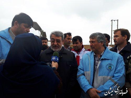 وزیر کشور آخرین وضعیت شهرستان گمیشان را بررسی کرد