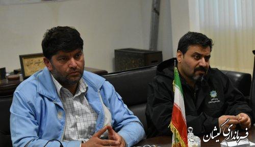 جلسه بررسی وضعیت هدایت آبهای ورودی به مرکزشهرستان برگزارشد