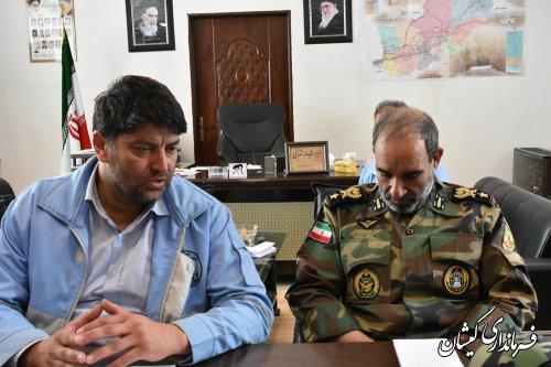 فرماندار گمیشان حضور تجهیزات بیشتر ارتش در شهرستان را خواستار شد