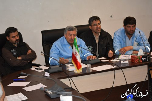 جلسه شورای هماهنگی مدیریت بحران استان درگمیشان برگزار شد
