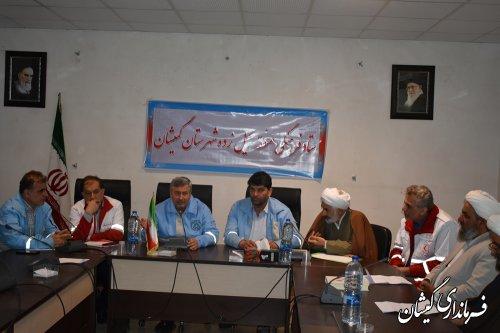 ستاد فرهنگی منطقه سیل زده شهرستان گمیشان برگزار شد