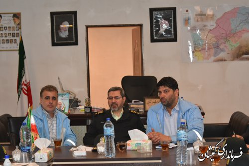 دیدار رییس سازمان وظیفه عمومی ناجا با فرماندار گمیشان