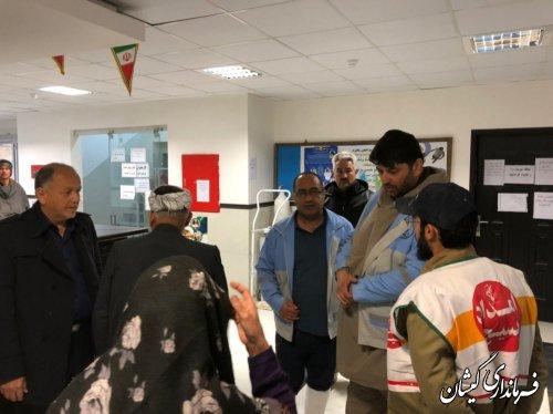 بازدید فرماندار از مراکز خدماتی ودرمانی بسیج جامعه پزشکی مرکز شهرستان