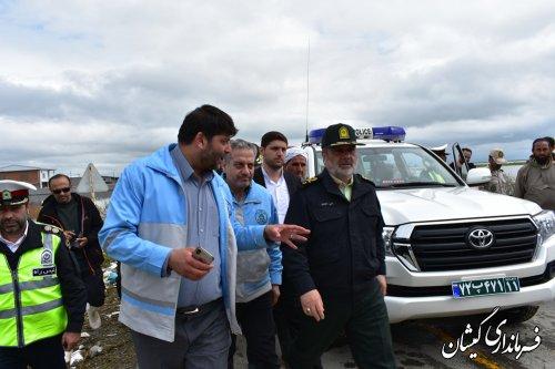 فرمانده نیروی انتظامی کشورازشهرگمیش تپه بازدید کرد