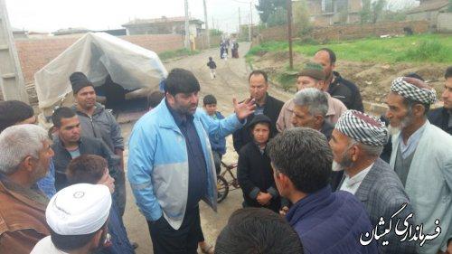 فرماندار گمیشان از چند روستای شهرستان بازدید کرد