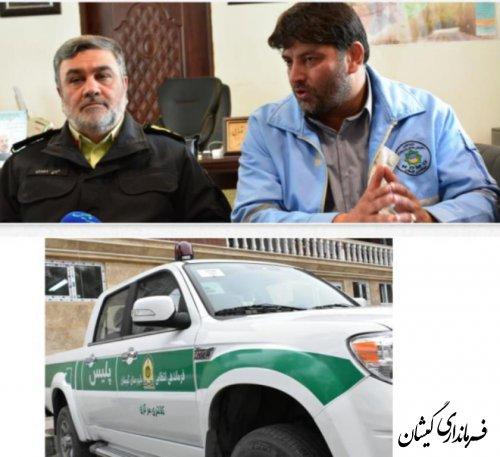 یک دستگاه خودروی کاپرا به فرماندهی انتظامی شهرستان تحویل شد