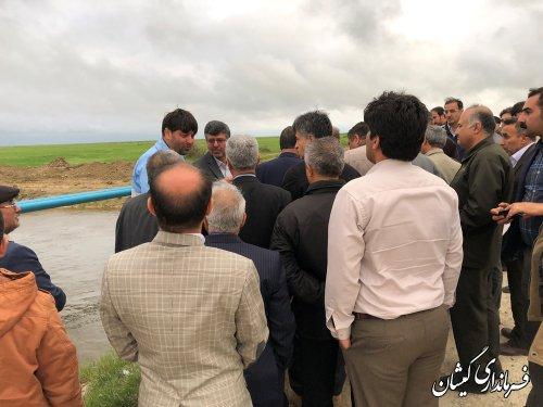 رئیس و اعضای کمیسیون کشاورزی مجلس از شهرستان گمیشان بازدید کردند