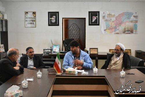 نشست هماهنگی کمیسیون آموزش مجلس با فرماندار گمیشان برگزار شد