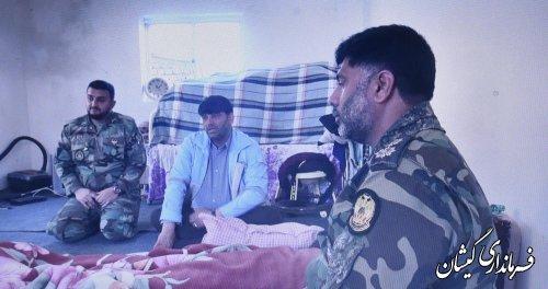بازدید فرماندار گمیشان از بازسازی واحد مسکونی توسط ارتش