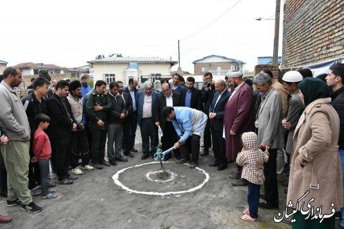 مراسم کلنگ زنی بازسازی نخستین واحدشهری گمیشان برگزارشد