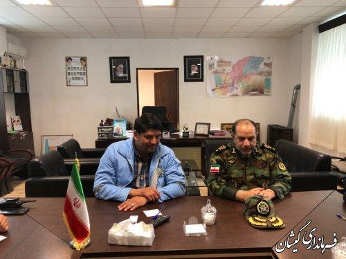 دیدار رئیس بازرسی وزرات دفاع و پشتیبانی با فرماندارگمیشان