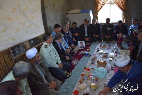 دیدار وزیر کشور باخانواده شهید خدمت سلیم صوفیانی