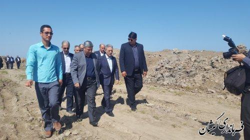 بازدید هیات ویژه گزارش ملی سیلاب و سرپرست استانداری گلستان از شهرستان گمیشان