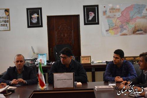 اولین جلسه شورای ترافیک شهرستان گمیشان درسال98برگزار شد