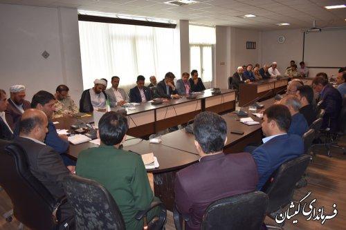 اولین جلسه شورای اداری شهرستان گمیشان در سال98برگزار شد