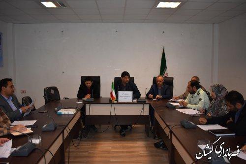 اولین جلسه شورای هماهنگی مبارزه بامواد مخدر شهرستان گمیشان درسال98 برگزار شد