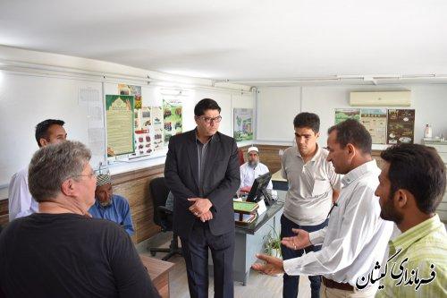 بازدید فرماندار گمیشان از مدیریت جهاد کشاورزی شهرستان