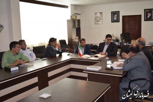 جلسه تعیین مکان استقرار شرکت تعاونی 435 مسافربری مرکزشهرستان برگزار شد