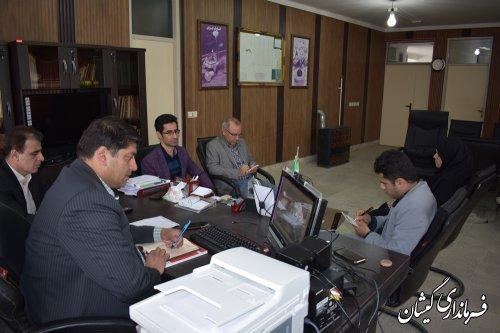 سومین جلسه ویدئو کنفرانس استانی انتخابات به ریاست معاون استاندار