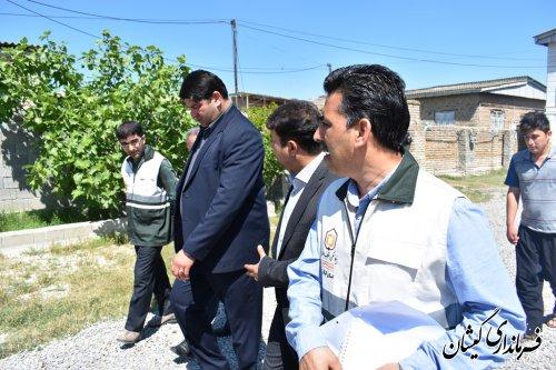 بازدید فرماندار گمیشان از دفتر ستاد بازسازی سیل