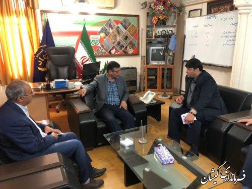 دیدار فرماندار گمیشان با رئیس سازمان جهاد کشاورزی استان