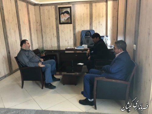دیدار فرماندار گمیشان با مدیر کل ستاد اجرایی فرمان حضرت امام(ره)
