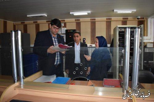 بازدید فرماندار گمیشان از بانک های ملی و سپه
