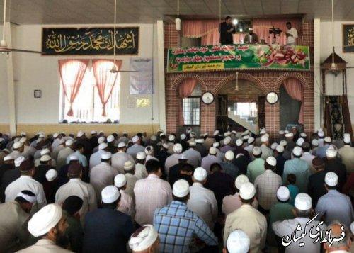حضور فرماندار گمیشان در نماز عید سعید فطر مرکز شهرستان