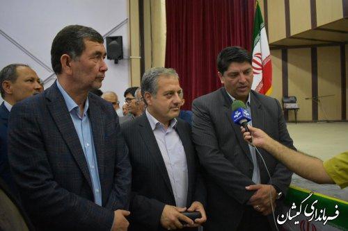 آیین تکریم و معارفه فرماندار شهرستان گمیشان برگزار شد