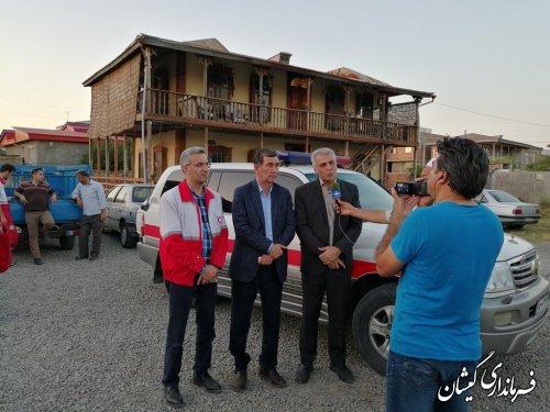 بازدید سرپرست فرمانداری گمیشان از پایگاه هلال احمر