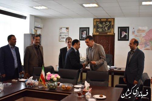 مراسم تکریم و معارفه رئیس شرکت گاز شهرستان گمیشان برگزار شد