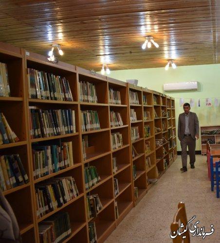 بازدید سرپرست فرمانداری گمیشان از کتابخانه عمومی امام محمد غزالی