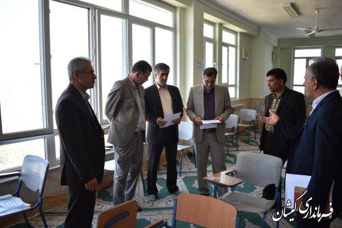 بازدید رییس حوزه سنجش استان از محل برگزاری کنکور98 گمیشان