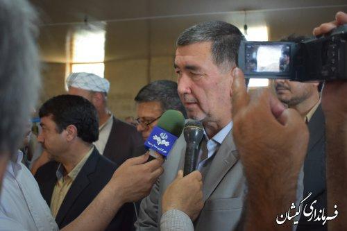 آیین افتتاح مرکز تخصصی صنایع دستی گمیشان در روستای قلعه جیق کوچک
