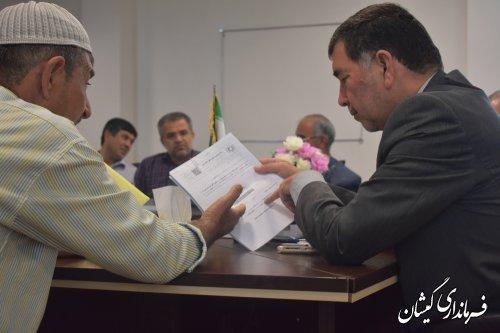 استمرار دیدارهای مردمی دستمرد سرپرست فرمانداری گمیشان با مردم شهرستان