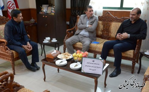 فرماندار شهرستان گمیشان با مدیرکل فنی و حرفه ای استان گلستان دیدار کرد