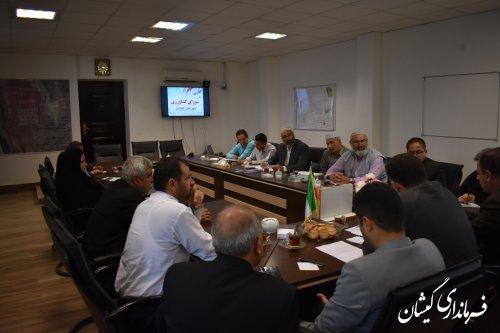 جلسه شورای کشاورزی شهرستان صبح امروز برگزار شد