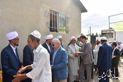 مراسم فارغ التحصیلی طلاب حوزه علمیه در روستای آرخ بزرگ برگزار شد