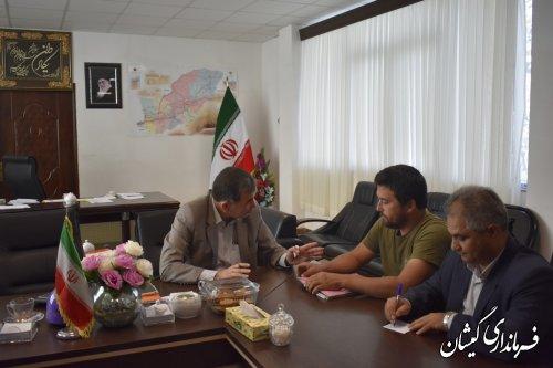 ملاقات عمومی فرماندار شهرستان گمیشان با شهروندان برگزار شد