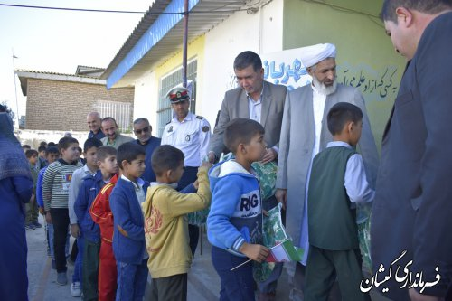 ویژه برنامه مهربانی در مهر در شهر سیل زده گمیش تپه برگزار شد