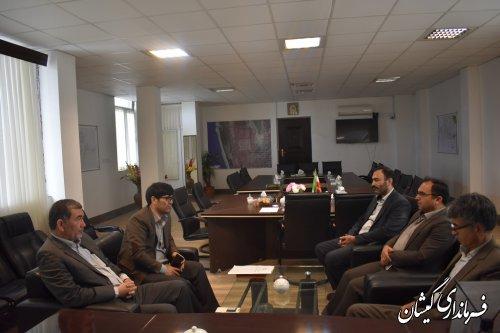 دیدار فرماندار گمیشان با مدیرکل منابع طبیعی و آبخیزداری استان