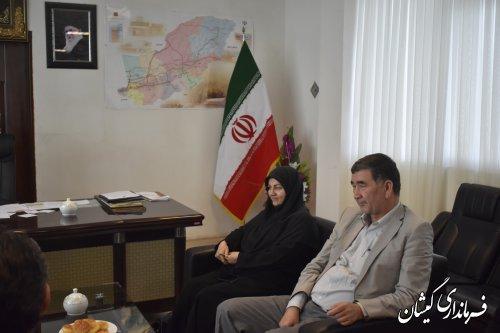 حضور معاون توسعه مدیریت و منابع استانداری گلستان در فرمانداری گمیشان