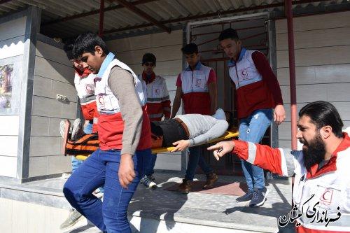 بیست و یکمین مانور سراسری زلزله و ایمنی درمدارس گمیشان برگزار شد