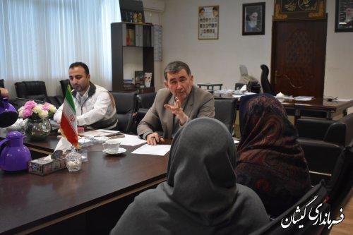 فرماندار گمیشان به درخواست ها و مشکلات مردم شهرستان رسیدگی کرد
