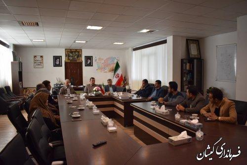 آیین تکریم و معارفه سرپرست حراست فرمانداری شهرستان