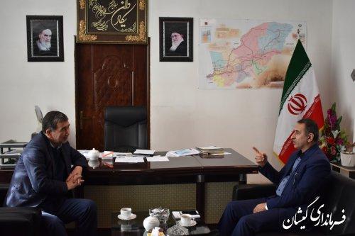 دبیر ستاد انتخابات استان با فرماندار شهرستان گمیشان دیدار کرد