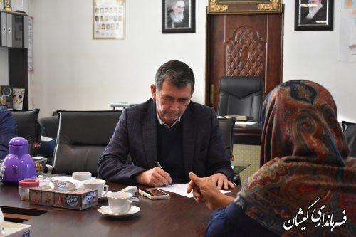 بیست و یکمین ملاقات عمومی  فرماندار با شهروندان گمیشانی