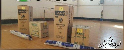 توزیع یکصد بسته اقلام اهدایی به مردم سیلزده گمیشان