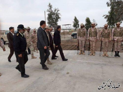 بازدید معاون سیاسی ، امنیتی و اجتماعی استاندار گلستان از پاسگاههای مرزی